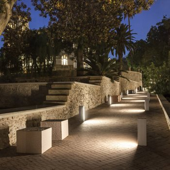 lighting residential fireplace landscape with patio and kitchen installation pergola outdoor custom sponzilli group design