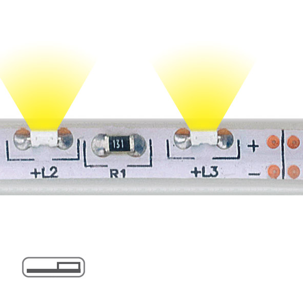 Underscore Ledstrip - tube side