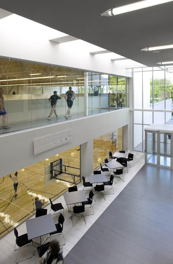 El centro deportivo YMCA