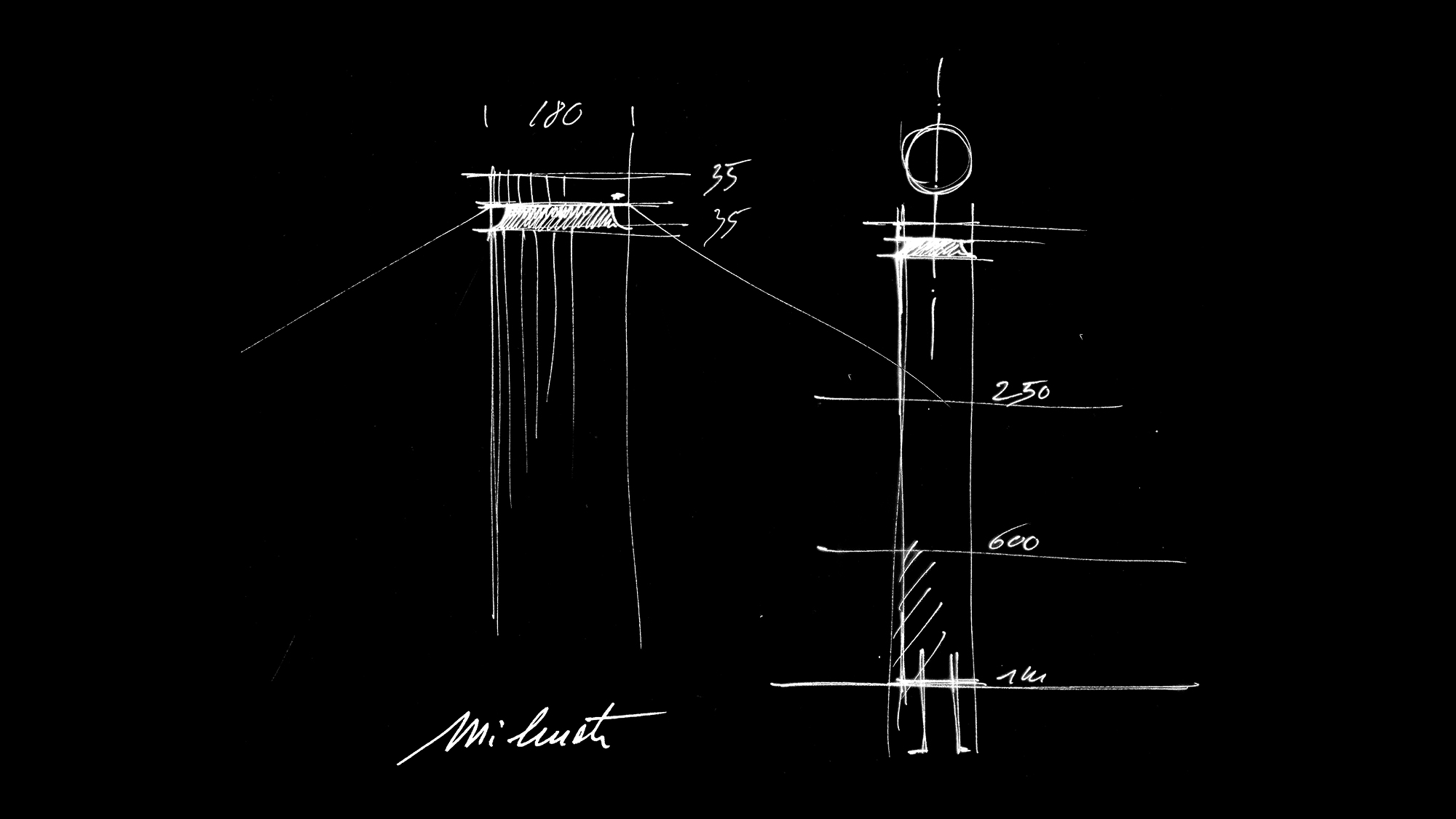 iWay drawing by J. M. Wilmotte for iGuzzini