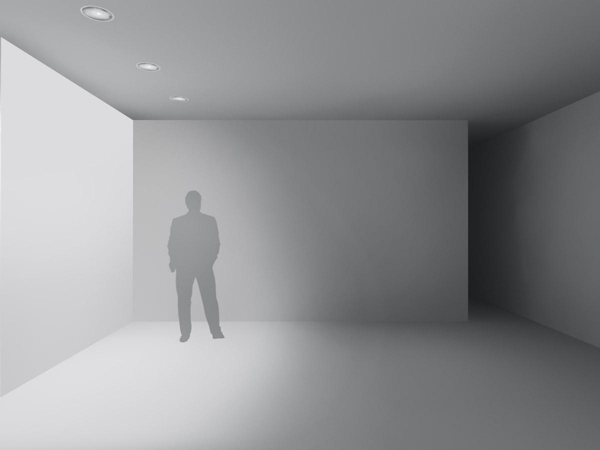 illuminazione di superfici verticali per interni