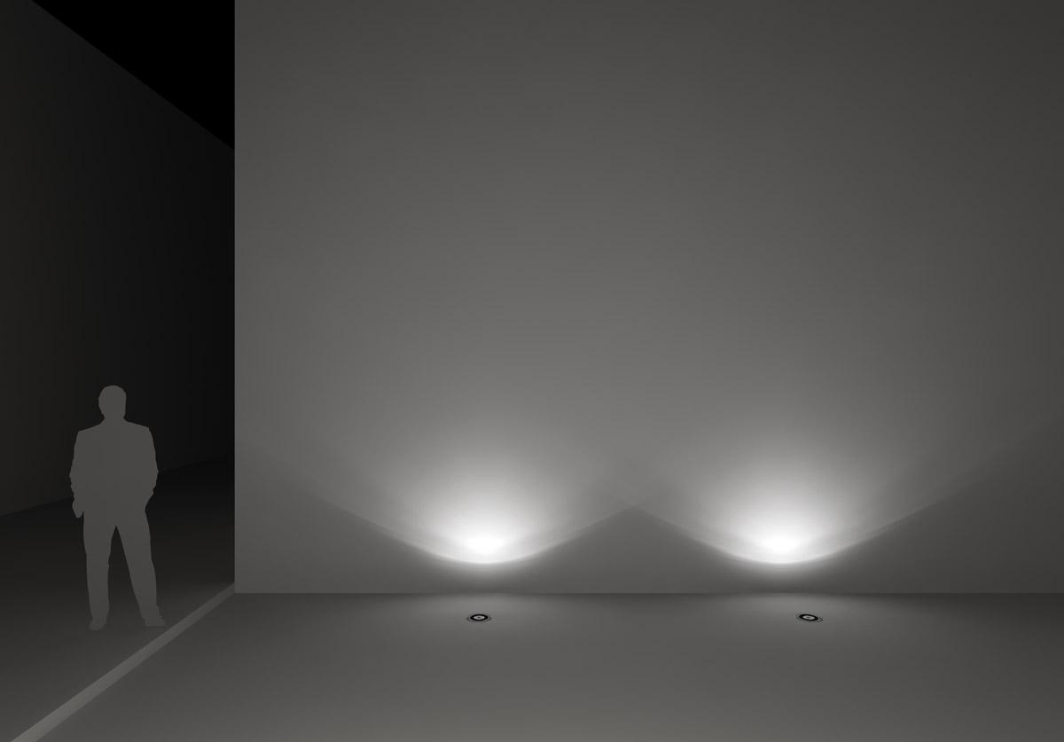 Illuminazione verso l'alto in interni