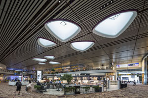 Terminal 4 of Changi Airport in Singapore