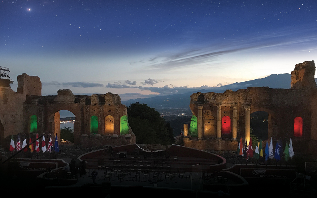 New light for the G7 Summit in Taormina