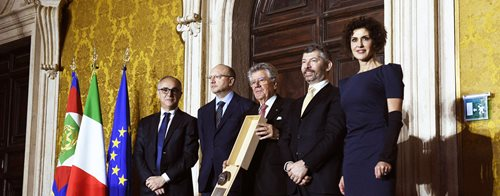 Adolfo Guzzini receives the Leonardo Prize 2017