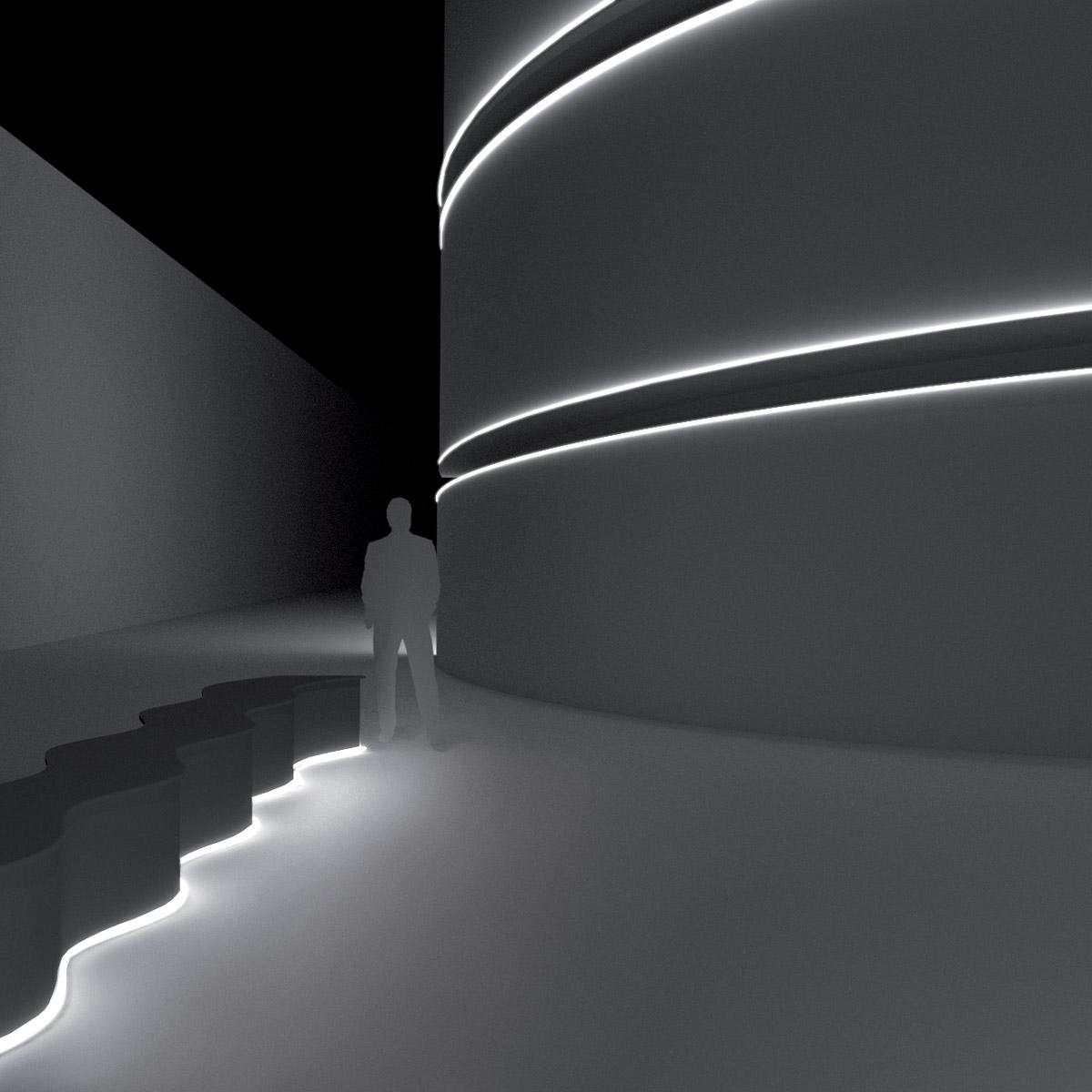 Líneas de luz de exterior