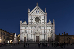 Dynamic white light for the Santa Croce facade
