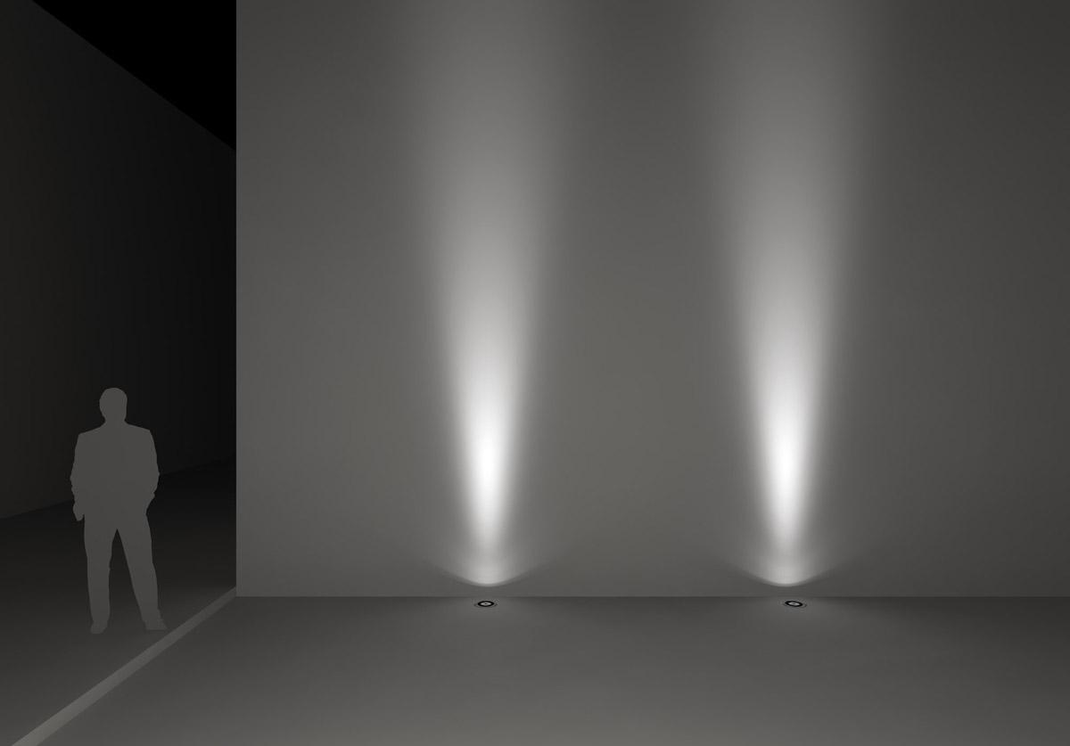 Luz hacia arriba de exterior