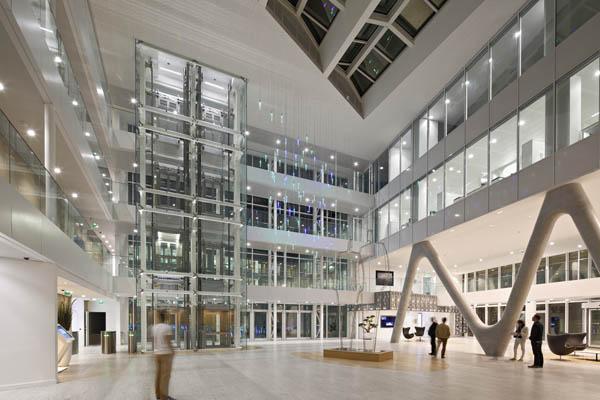L'éclairage du siège régional de l'une des plus grandes banques françaises
